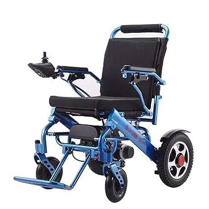 Silla de rueda eléctrica plegable ligero llevar, silla de ...