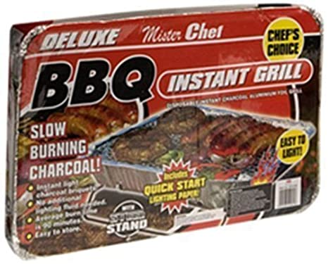 Nuevo Mini desechables barbacoa instantánea Lámina de aluminio con grill de carbón barbacoas