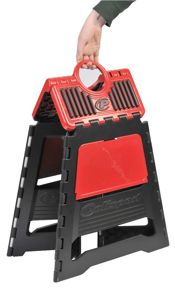 Polisport 8981500004 Red Motorcycle Stand
