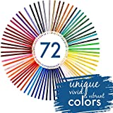 72 Colored Pencils Set, Numbered, with Metal Box