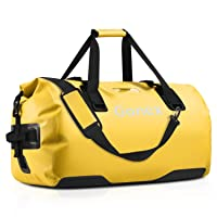 Gonex 40L 60L 80L Extra Large Waterproof Duffle Travel Dry Duffel Bag Heavy Duty Bag with Durable Straps & Handles for Kayaking Boating Rafting Fishing Outdoor Adventure