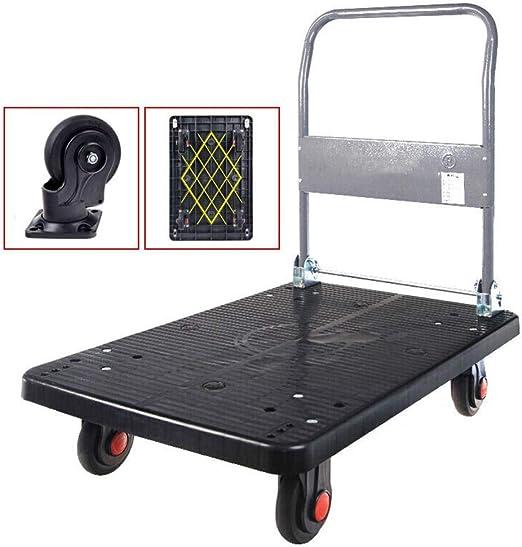 Heavy Duty Fold Flat Platform Trolley 150kg Max Warehouse Shop Folding Transport Bed