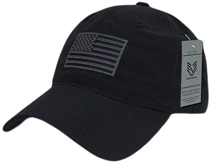 99cfce10fd112 Amazon.com: Rapiddominance S73-USA-BLK Relaxed Ripstop Cap, USA ...