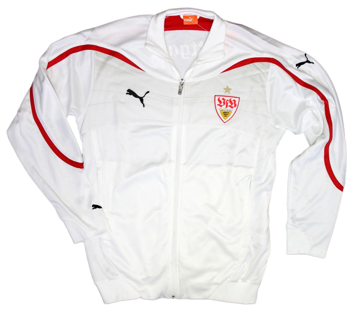 Puma VfB Stuttgart Walk Out Jacket Gr. 140 weiß 737550