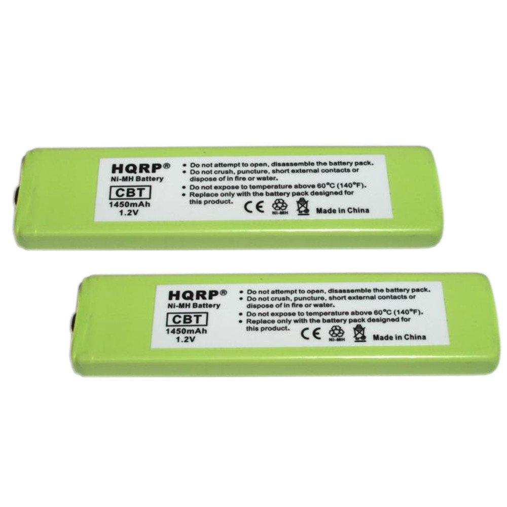 HQRP 2-Pack Battery for Sony NC-5WM, NC-6WM, WM-701C, 1-528-231-11, WM-RX707, WM-F100, WM-FX675 Replacement + HQRP Coaster 887774009051602