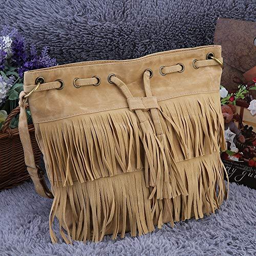 sac à Femmes daim sac seau gland frange messager bandoulière pratique etc main sac shopping sacs cordon imitation datation à 8q8vc4r