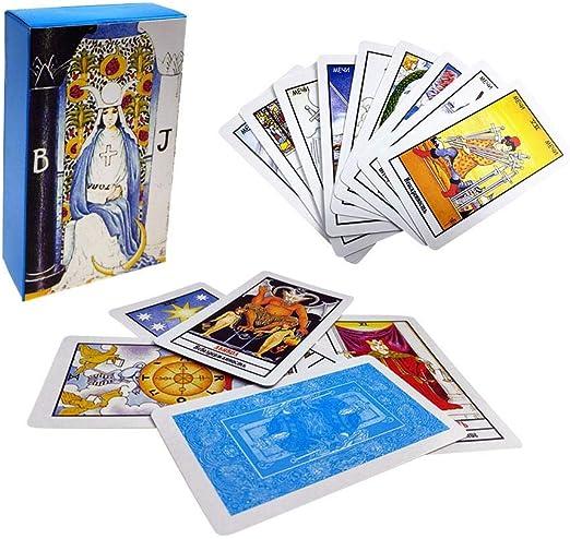 Tarot Deck Tarot Ruso, Radiant Rider Wait Tarot Cards Juego De Mesa Caja Colorida Adivinación Destino Juego De Cartas Tapo, Juego De Mesa con Caja Colorida Adivinación: Amazon.es: Hogar