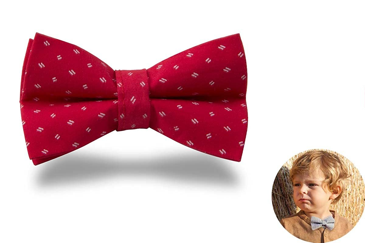 Adjustable Bowtie for Baby Boys and Kids, Designer Cotton Bow Tie Twinklebelle Design inc