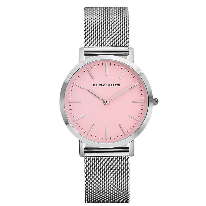 Relojes de Mujer,Lananas 2018 Dama Dial Rosa Pulsera de Malla Ajustable Tamaño Libre Negocio Lujoso Moda Relojes Watches (Plata): Amazon.es: Ropa y ...