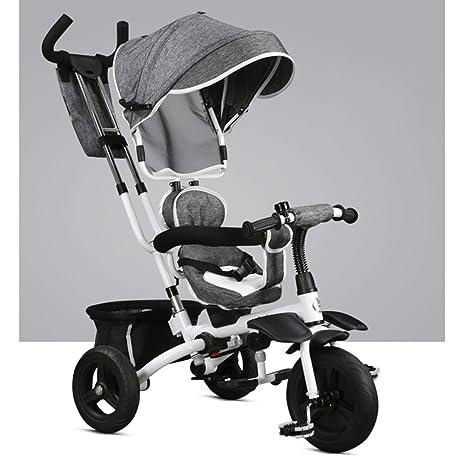 Triciclos Plegable para niños 1-3 años Bicicleta artefacto Cochecito de bebé Trolley Trike Kids