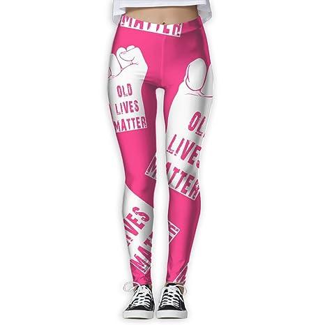 Amazon.com : DFGGH Old Lives Matter Women Yoga Pants Sport ...