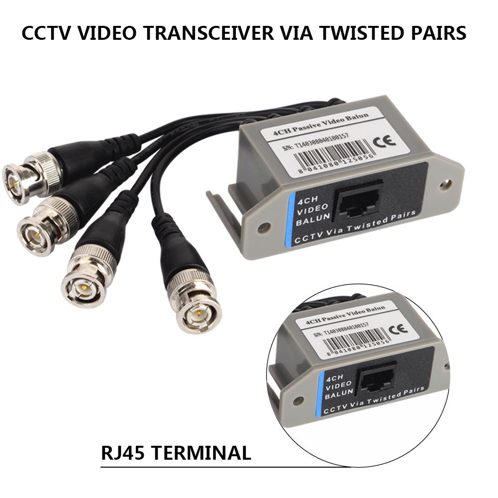 8ch Twisted Pair Wiring Diagram Wire Data Schema Cable Schematic Amazon Com 4 Channel Video Balun Transceiver Bnc To Utp Rh Color Code Cat 6