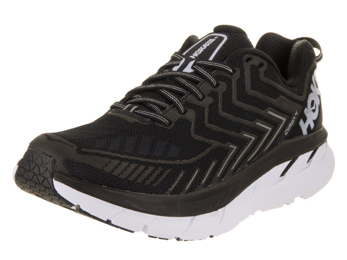 HOKA ONE ONE Women's Clifton 4 Running Shoe Black/White Size 8 M US