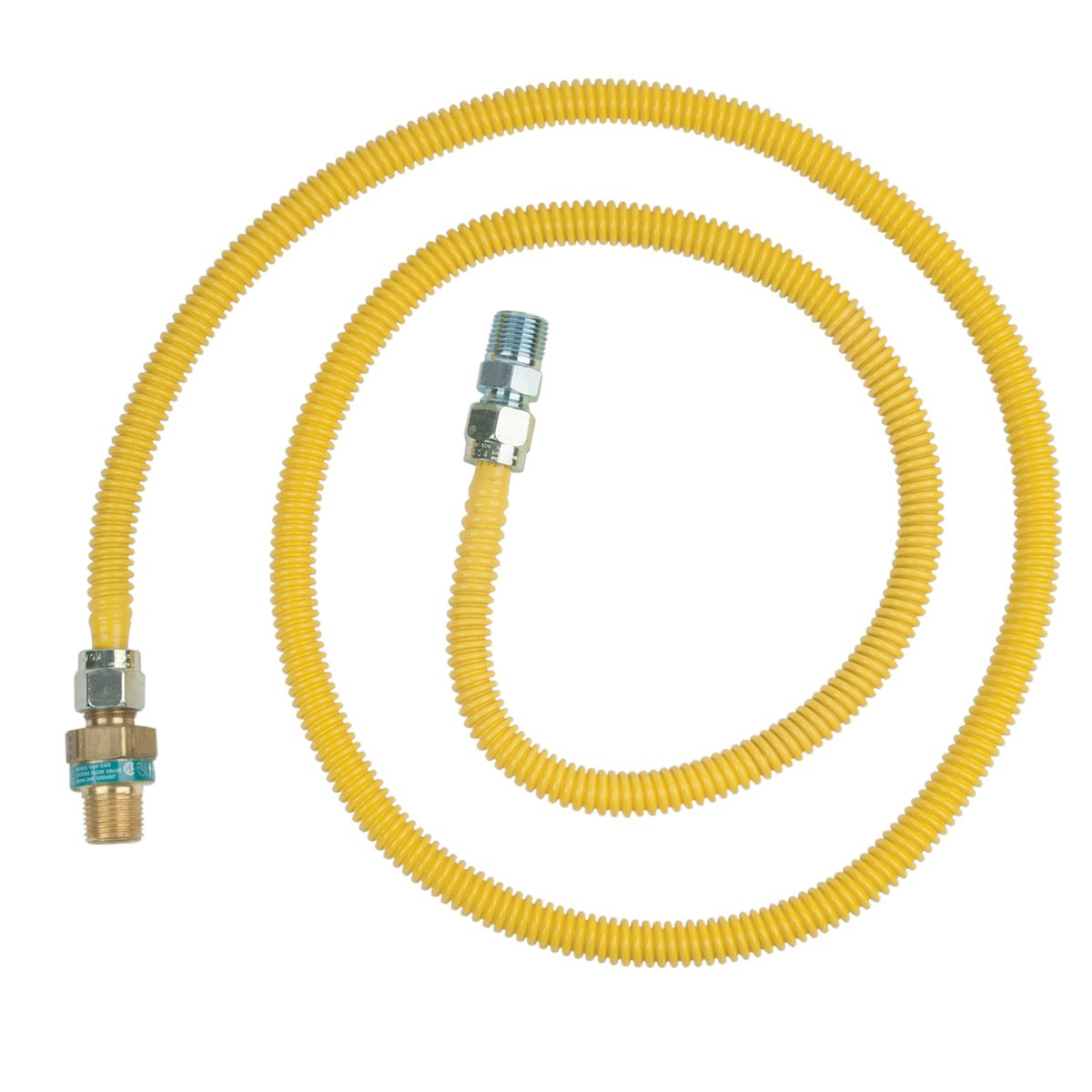 Brasscraft Cssd44R72 P Safety Plus Gas Appliance Connector With 1/2'' Od Efv And 1/2'' Mip x 1/2'' Mip x 72''