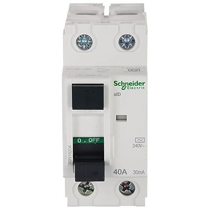 Schneider PVC Acti 9 40-Amp 2-Pole 30Ma Rccb (White)