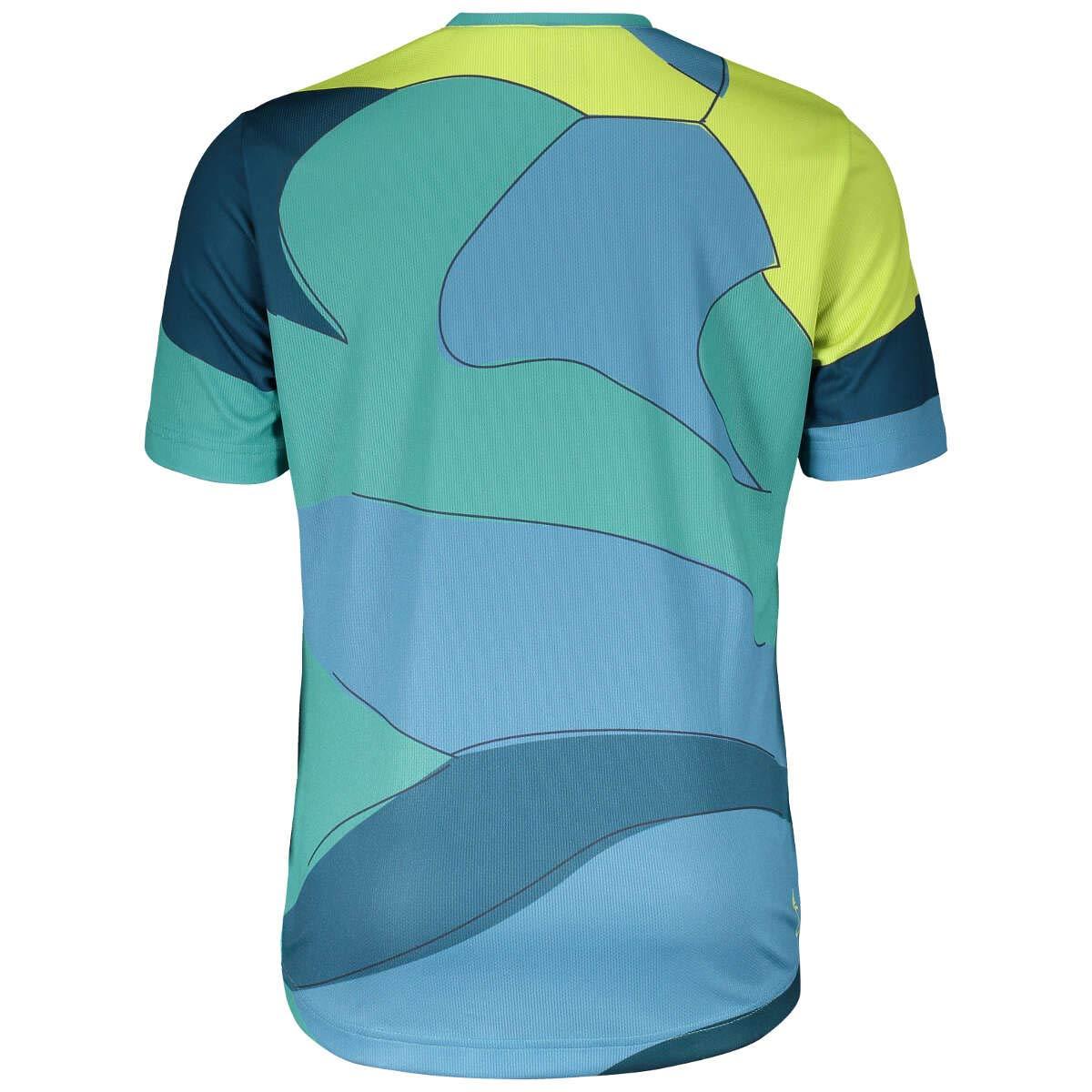 per Bambini Blu//Verde 2018 Scott Trail 20/Junior Maglietta da Ciclismo