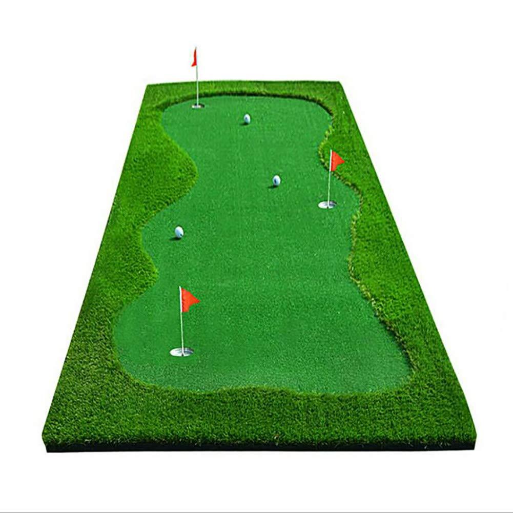 ZFTEFインドアゴルフパッティングコーチ、アウトドア/オフィス用ゴルフトレーナーラグ(9.84フィート* 3.28インチ) B07R85RCTK