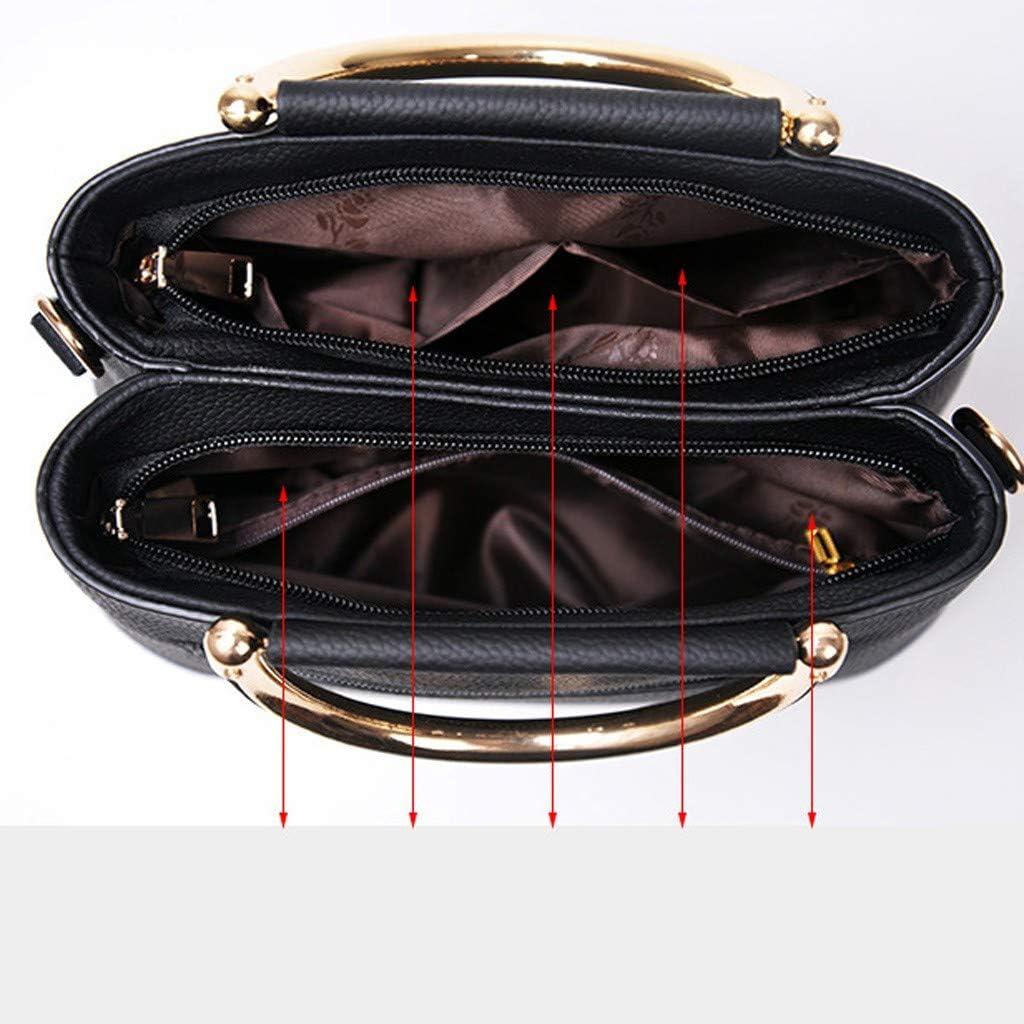 Fsqjgq Casual Totes Women Handle Bags Leather Crossbody Bag Shoulder Vintage Classic Simple Letter Tote