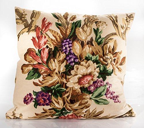 decorative pillow cover, Schumacher fabric, floral pillow cover