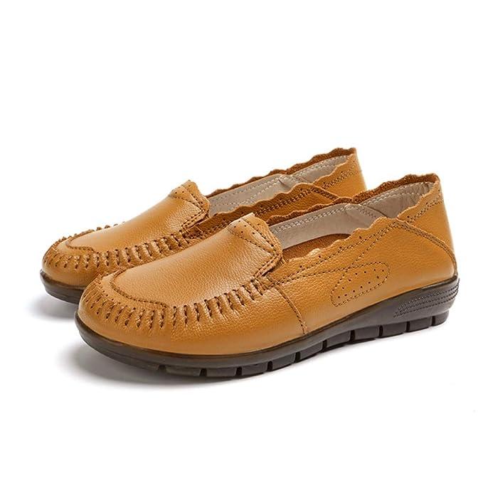 Zapatos Planos Zapatos De Trabajo Para Mujer Zapatos De Guisantes Antideslizantes Inferiores Suaves Ocasionales Mocasines De Oficina: Amazon.es: Ropa y ...