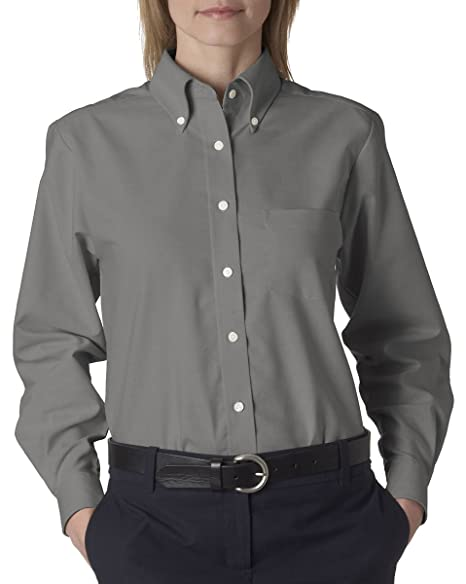 ee21edb458 Image Unavailable. Image not available for. Color  UltraClub Ladies Classic  Wrinkle-Free Long-Sleeve Oxford ...