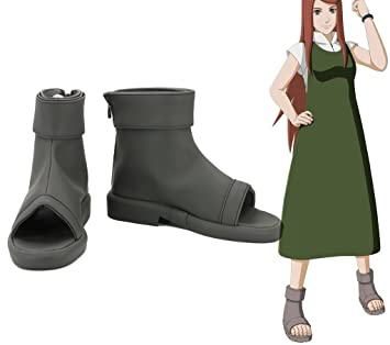 NARUTO Anime Uzumaki Kushina Cosplay Shoes Boots Custom Made