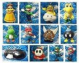 Super Mario Brothers 12 Piece Holiday Christmas Ornament Set Featuring Mario, Luigi, Yoshi, Bullet Bill, Princess Daisy, Shy, Goomba, Lakitu Spiny, Bomb, and Koopa Troopa - Shatterproof Ornaments Range from 1.5' to 3.5' Tall