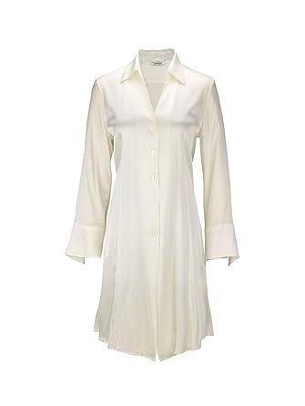 ad9a4b3ab1c57d Eva B.Bitzer Sloane Street Seiden-Nachthemd geknöpft, elastische Webseide  Damen: Amazon.de: Bekleidung