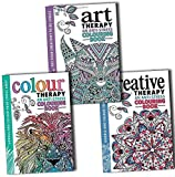 img - for The Art Colour and Creative Therapy Anti Stress Adult Colouring 3 Books Collection book / textbook / text book