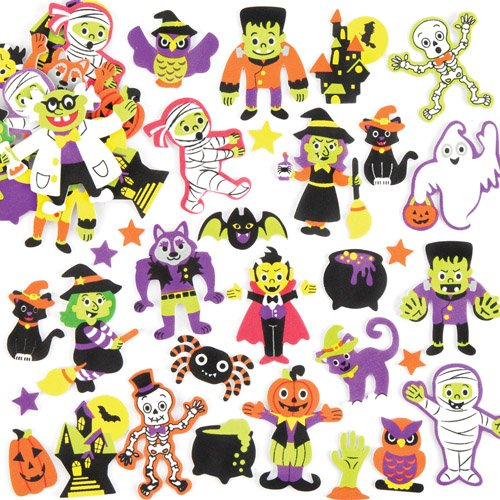 Halloween Foam Stickers Perfect For Halloween Children's Arts, Crafts And Decorating For Boys And Girls (Pack of (Funny Halloween Decorating Ideas)
