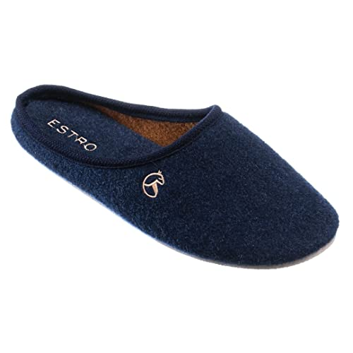 8fcfb4155c9bf ESTRO Pantofole Ciabatte Uomo Casa Pantofola Ciabatta Vera Feltro Rex (40