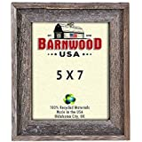 BarnwoodUSA Rustic 5x7 Inch Signature Frame - 100% Reclaimed Wood, Weathered Gray