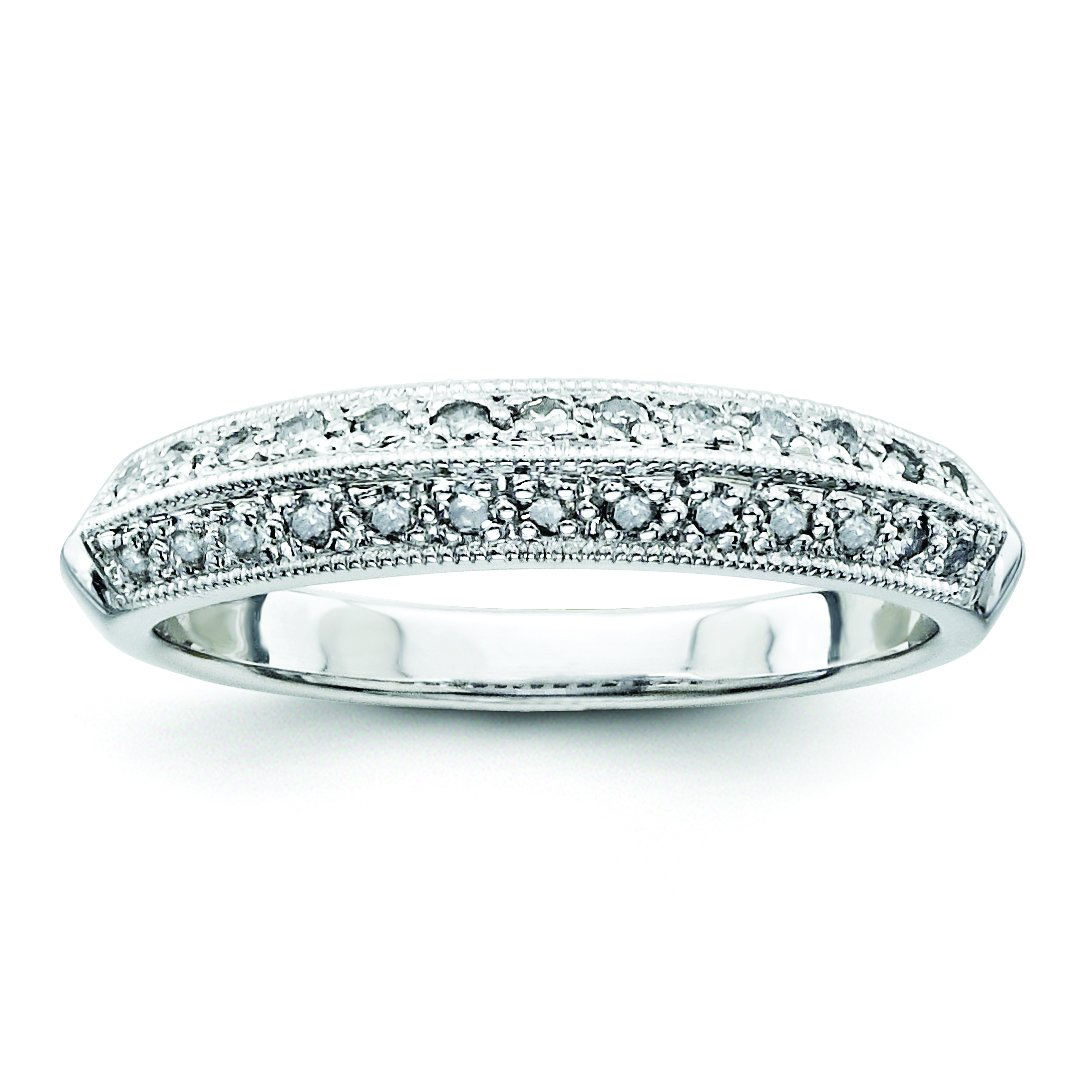 925 Sterling Silver Diamond Eternity Wedding Band for Women Size (0.25ct, H-SI2)