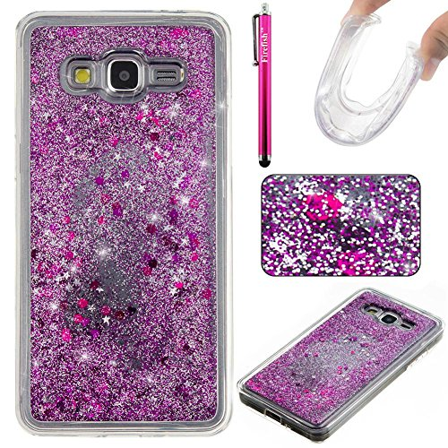 (Galaxy G530 Case, Galaxy Grand Prime Case, Firefish Slim Dynamic Flowing [Anti-Slip] Flexible TPU [Scratch Resistances] Protective Cover for Girls Fits for Samsung Galaxy Grand Prime G530 -Purple)