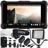 Atomos Ninja Inferno 7'' 4K HDMI Recording Monitor 11PC Accessory Bundle Includes Rode VideoMic Pro with Rycote Lyre Shockmount + 160 LED Video Light + 2 Replacement F970 Batteries + More