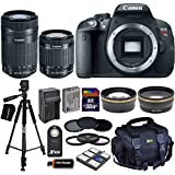 Canon EOS Rebel T5i Digital SLR Camera with 18-55mm STM & 55-250mm STM Zoom Lenses + Tele & Wide Lenses + ND Filters ND2, ND4, ND8 + 15pc 32GB Deluxe Accessory Kit - International Version