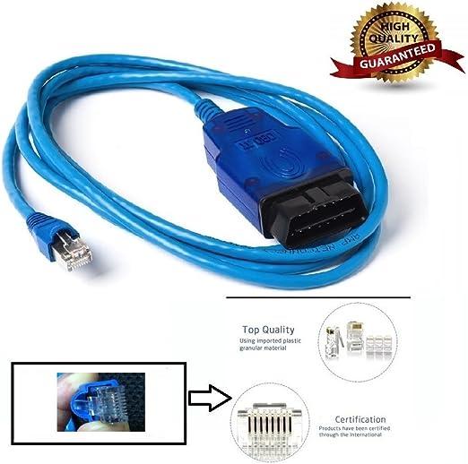 Goldplay Ethernet Enet Rj45 Obd Obdii Obd2 Interface Codierung Für F Serie Kabel Kompatible Mit Bmw E Sys Auto