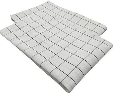 orliverhl negro blanco Grids paños de cocina decorativo gamuza de ...