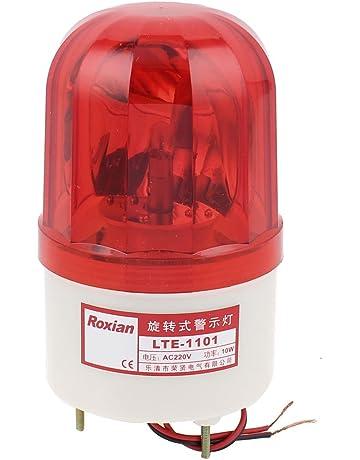 8d5e89fb883253 sourcingmap AC 220V rouge LED Rotatif Lampe De Poche Industriel Signal  Avertissement lampe