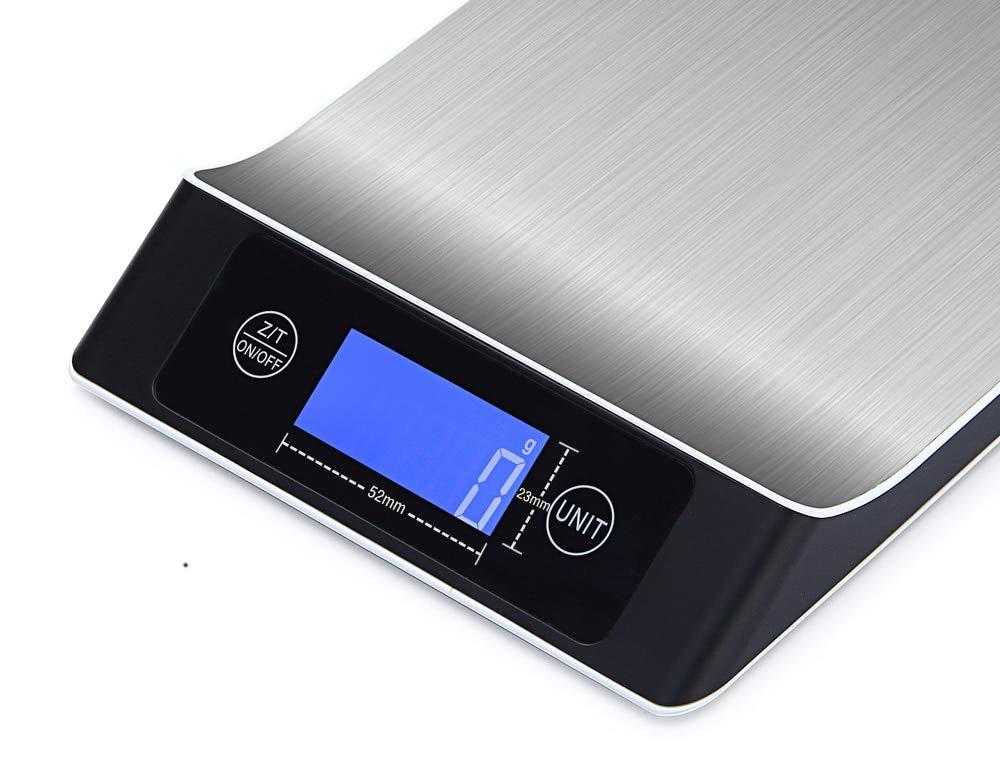 LAUERTHGB Básculas 15KG / 1g Pantalla LCD Escala de cocina electrónica Escala postal digital para alimentos de frutas Dieta Ponderación Herramienta de ...