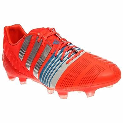 018e9d90bfa Adidas Nitrocharge 1.0 FG Soccer Cleats (Solar Red) Sz. 7.5