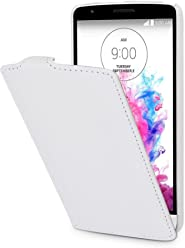 StilGut® UltraSlim Case, custodia in pelle per LG G3 Stylus, bianco