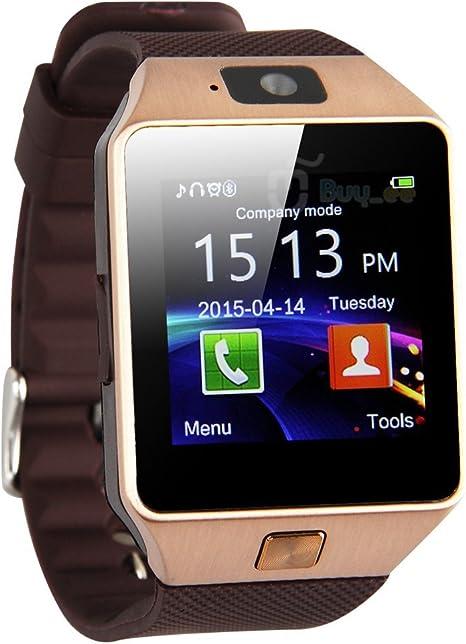 Zomtop Dz09 Bluetooth del Reloj del Reloj Inteligente con Cámara de Sincronización Para Android Ios Móvil Samsung S5 /Nota 2/3/4, Nexus 6, Htc, Sony, Huawei y Otros Teléfonos Inteligentes Android: Amazon.es: Electrónica