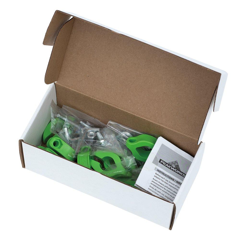 Peakworks V8561301 Round Clamp 3//4 Tool Tethering System green