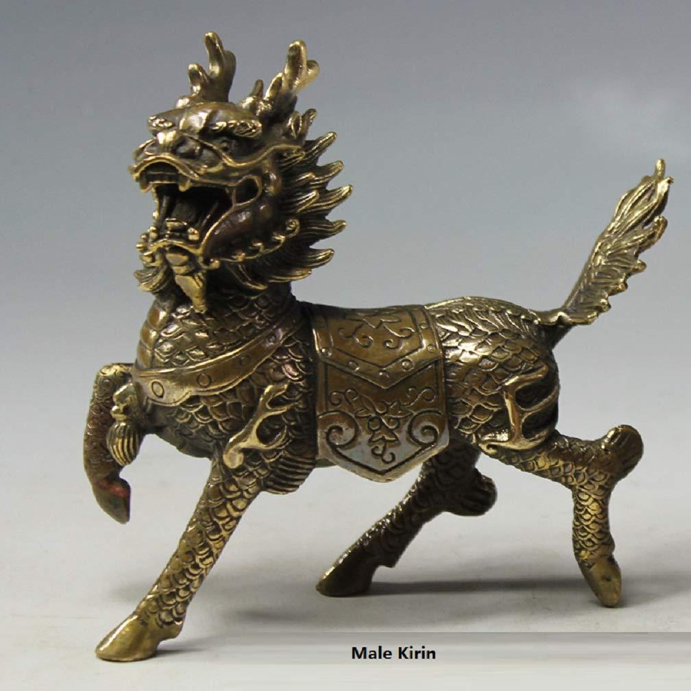 Amazon.com: Feng Shui Products Kirin Statues Desk Decorations ...