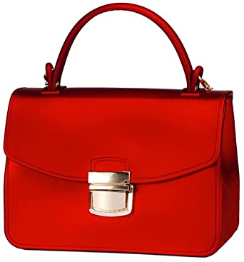 8002131065127 Amyhui Small Top Handle Handbags Jelly Satchel Bags for Women Tote Purse (Red)