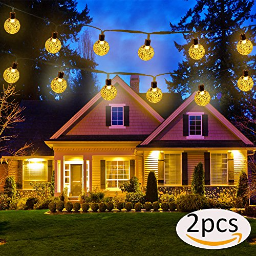 Solar Christmas Icicle Lights Outdoor