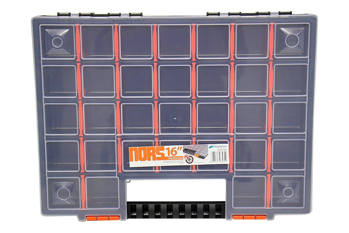 pour les petits objets et outils environ 399/x/303/x/50/mm Lot de 5/bo/îtes /à outils vides coffrets de rangement avec compartiments s/éparables individuellement bo/îtes de rangement
