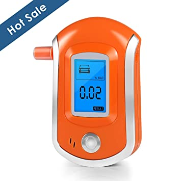 Breathalyzer, Breath Alcohol Tester, Digital Battery Power Alcohol Detector with LCD Display, 6