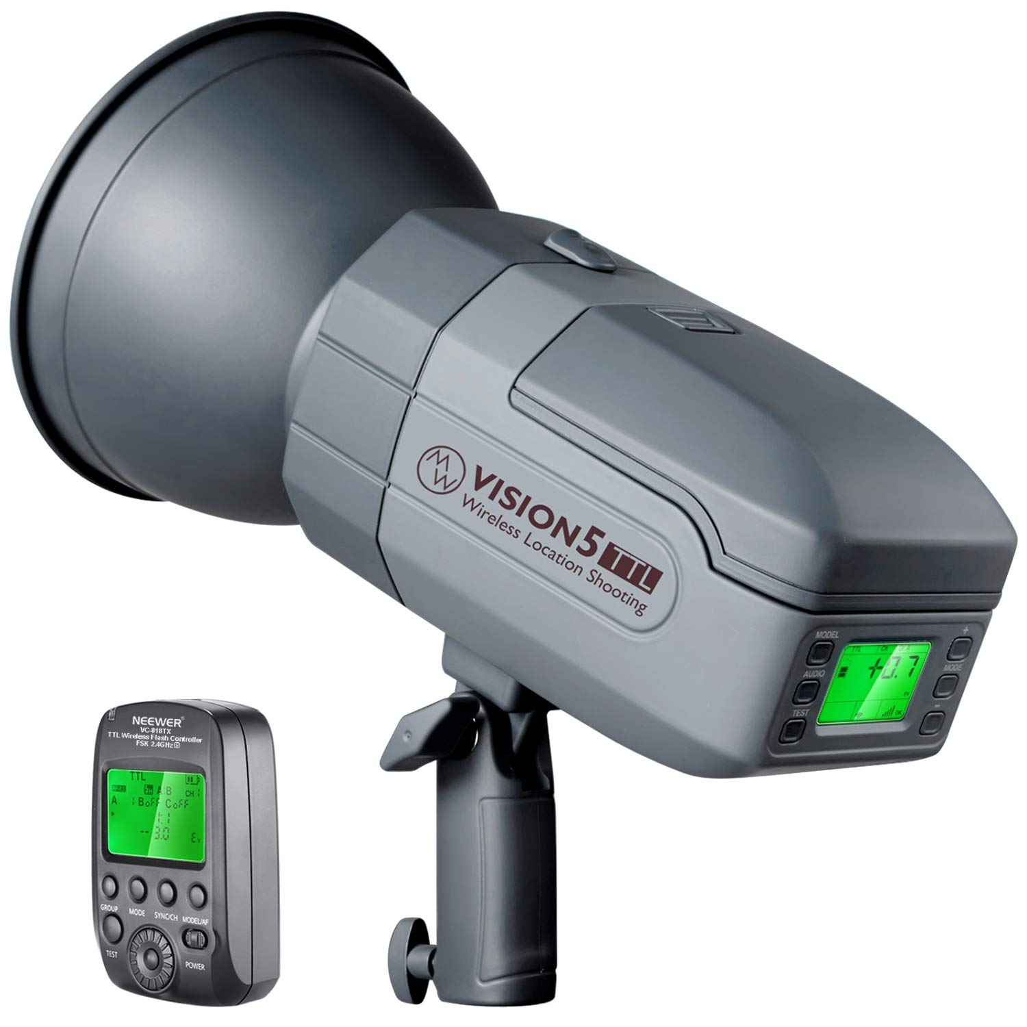 Neewer Vision5 400W TTL for Sony HSS Outdoor Studio Flash Strobe with 2.4G System and Wireless Trigger, Lithium Battery (up to 500 Full Power Flashes), German Engineered, 3.96 Pounds, Bowens Mount